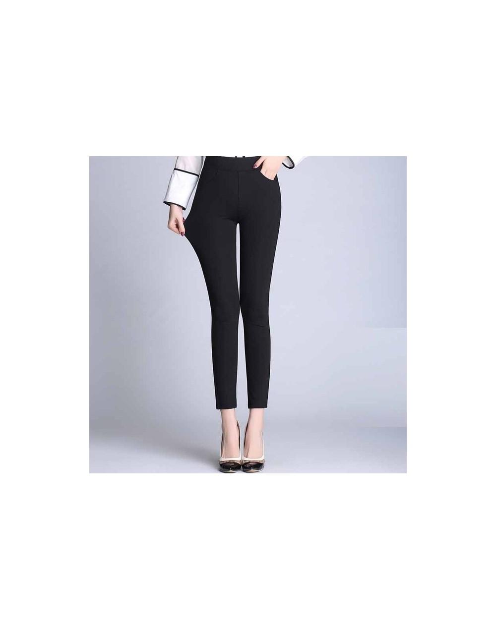 2017 Spring new fashion high waist strech pencil pants for women office OL style work wear skinny pants female vintage trous...