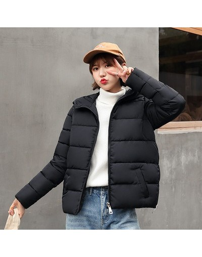 2019 Fashion Women Down cotton Winter Hooded Jacket Loose Student Short Coat Parka Warm Female Overcoat Jackets Casual Tops ...