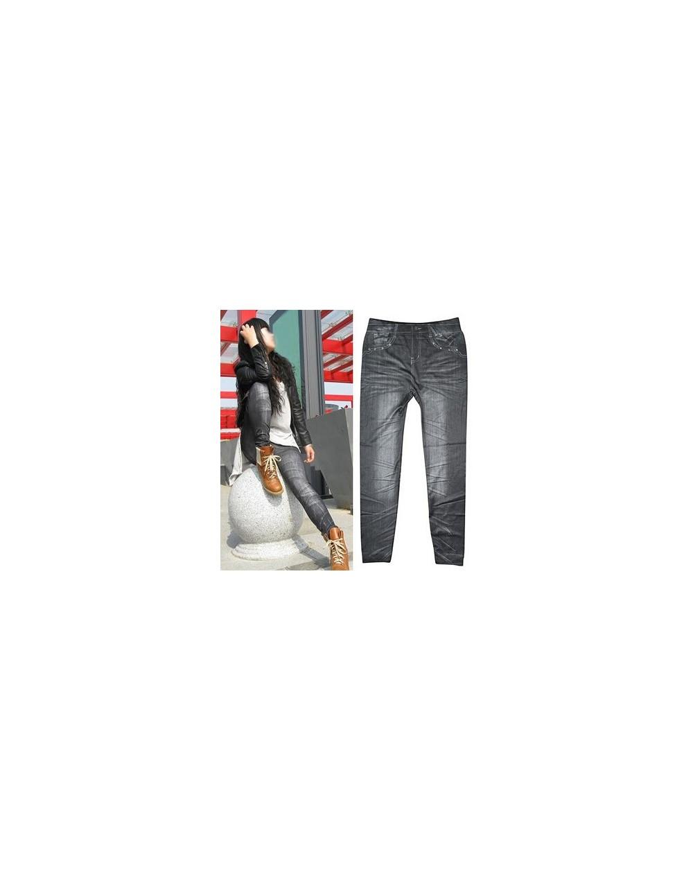 2016 Sales Spring Leggings Jeans Women Denim Pants With Pocket Slim Jeggings Fitness Plus Size Leggings 9 Colors Styles - Be...
