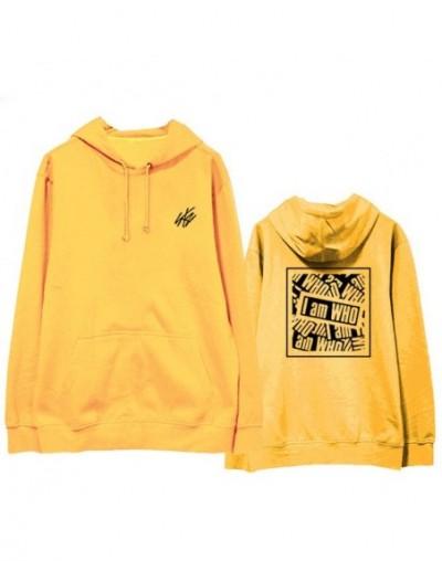 Fashion Straykids Hoodie I am Who Sweatershirt Hip Hop Street Wear Kpop Stray Kids Harajuku Hoodie Coat - Yellow - 403065131...