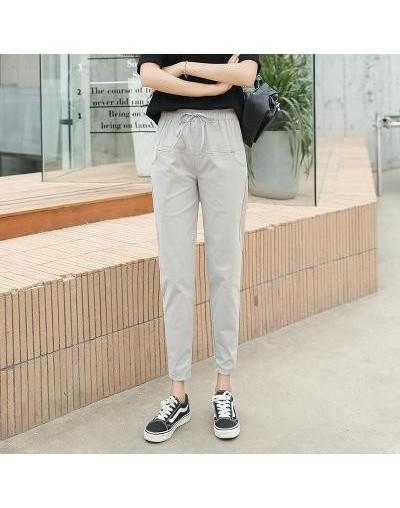 Cotton Linen Pants For Women Trousers Loose Casual Solid Color Women Harem Pants Plus Size Ankle-length Pants Women's Summer...