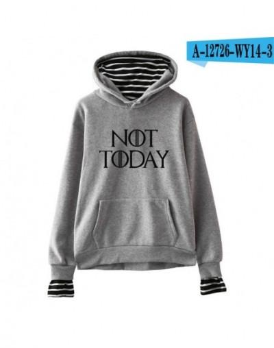 Leisure HIP HOP New arya stark-not today Men and women styles Hoodies Sweatshirts Leisure style Fake two hoodies sweatshirts...