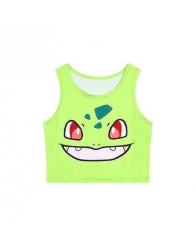 Fashion Fresh Girls Cute Sweet Japan 3D Cartoon Digimon Bulbasaur/Jigglypuff/Pikachu Tank Top Sexy Sleeveless Vest Crop Top ...