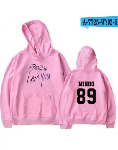 2018 Stray Kids I Am You Idol Unisex Member Hyun Jin Pop Fashion Warm Soft Women Hoodies Sweatshirt Hip Hop Clothes - pink -...