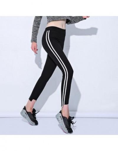 2018 New Plus Size 6XL Leggings Fashion Autumn Women Side Striped Legging Lady Slim High Waist Gothic Black Leggins Pants SF...