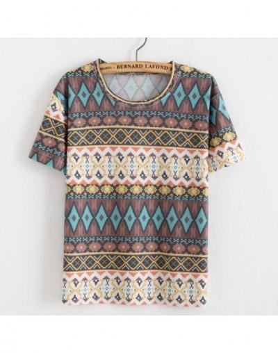 2019 women summer new rainbow Striped t shirt all-match cotton short sleeve harajuku T-shirt fashion ladies tops - 8 - 4K383...