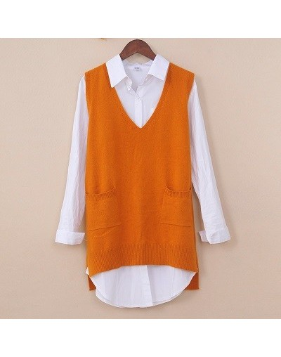 2019 New Fashion Spring Women Vest Pretty Sleeveless V-Neck Ladies Knit Sweater Cashmere Wool Vest High Quality - jianghuang...