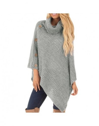 2019 Autumn Winter Turtleneck Sweater Thick Warm Knitwear Pullover Irregular Female Knitted Sweater Jumper Women Sweater Fem...