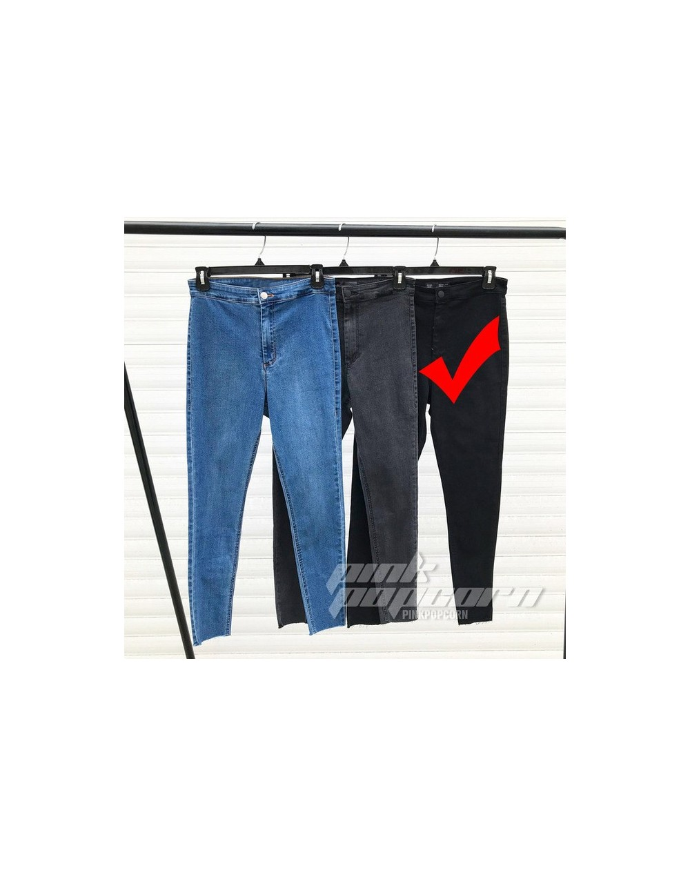 Jeans For Women Stretch Black Jeans Woman Pants Skinny Women Jeans With High Waist Denim Blue Ladies Push Up Basic Jeans - C...