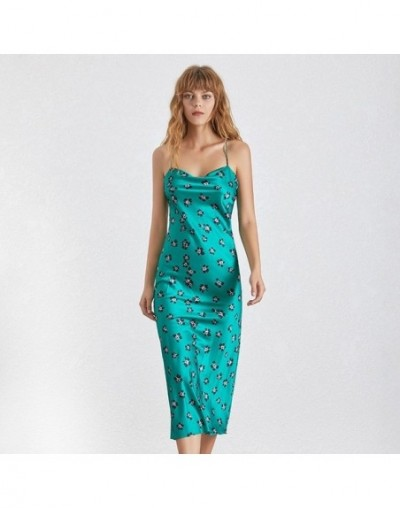 Sleeveless Print Sexy Dress For Women Strapless Off Shoulder High Waist Bandage Slim Party Dresses Female Summer - green - 4...