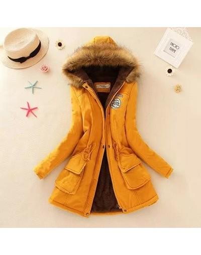 2018 New Parkas Female Women Winter Coat Thickening Cotton Winter Jacket Women Outwear Slim Parkas for Women Winter - Yellow...