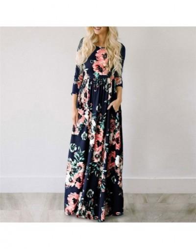 Long Maxi Dress Floral Print Boho Beach Dress Tunic Bandage Bodycon Evening Party Dress Vestidos largos mujer Plus Size - De...