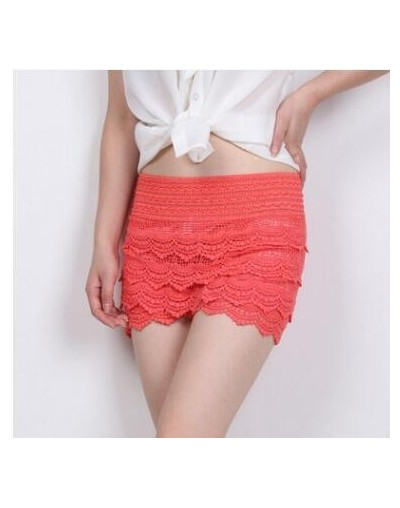 2017 New Summer Fashion Womens Shorts Sweet Style Lace Crochet Elastic Waist Slim Short Pants Plus Size S M L XL 2XL - Water...