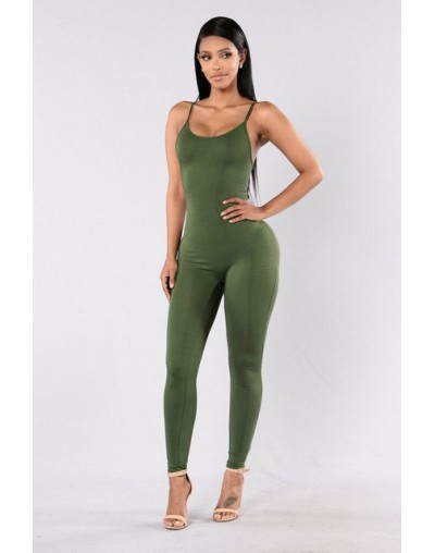 2019 Solid Sexy Strap Backless Bodycon Bandage Long Pants Summer Basic Jumpsuit Women Sexy Rompers One Piece Bodysuits For W...