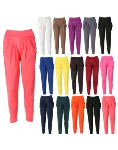 New Ladies Fashion Casual Harem Baggy Dance Sweat Pants Trousers Slacks - Khaki - 453949966948-5