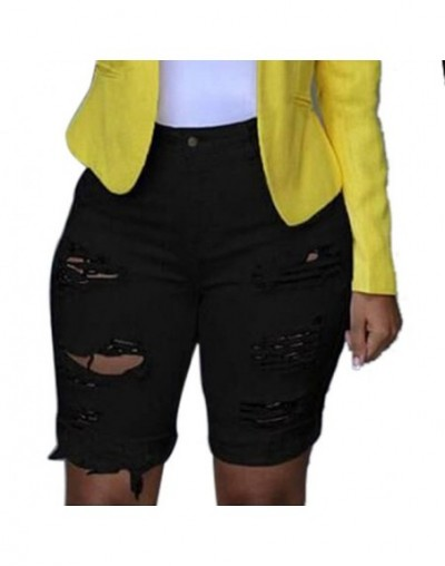Jeans Woman Men Clothes 2019 Ripped Jeans mujer Elastic Destroyed Hole Leggings Short Pants Denim Shorts Skinny Jeans for wo...