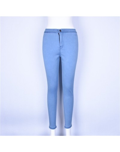 High Waisted Jeans Skinny Fashionnova Woman Pencil Pants Raise The Hip Cotton High Elasticity Jeans Woman - Light blue - 464...