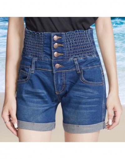 2018 hot Summer plus size Solid Cotton women's shorts jeans for women female Women's clothing girl's small size big size - D...