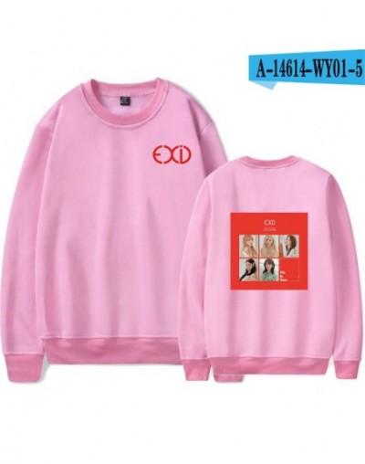 EXID Sweatshirts Famous Kpop Pullover Loose Capless Hoodies Fashion Print High Quality Hip Hop Sweatshirts EXID - pink - 484...
