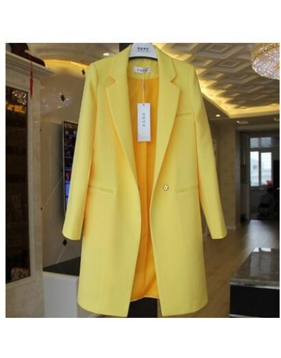 White Black Women Blazers And Jackets Plus Size 2019 Spring Autumn Solid Female Elegant Women Long Suits Blazer Casual Tops ...