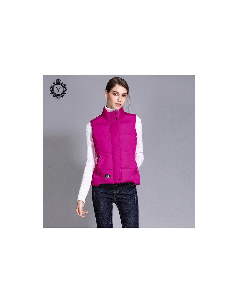 Women Vest Winter Stand Collar Sleeveless Jacket Coat Women Solid Color S-3XL Top Quality Bodywarmer Cotton Vest 2019 COUTUD...