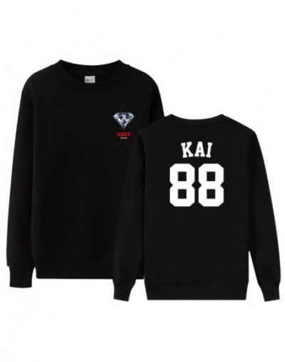 EXO new album love shot same member name printing black thin sweatshirt kpop unisex exo l o neck pullover loose hoodies - 3 ...