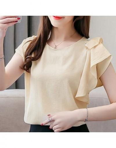 Fashion women tops and blouse 2019 ladies tops chiffon blouse shirt women shirts short plus size Batwing Sleeve shirts 4309 ...
