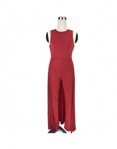 high quality women fashion nova 2018 rompers jumpsuit One Piece Long wide leg pants Casual Party red overalls dungarees maca...