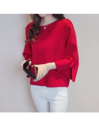 2016 Autumn Winter Women Sweaters and Pullovers O Neck Split Cuff Loose Pullover Female Sweater Jumper Oversize Pull Femme -...