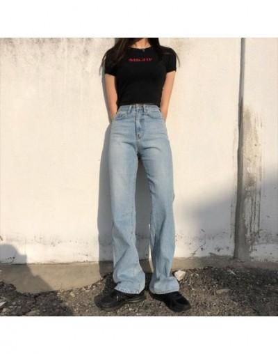 High Waist Jeans Woman 2019 Mom Denim Boyfriend Fashion Solid Wide Leg Casual Vintage Baggy Long Trousers Loose Pants Korean...