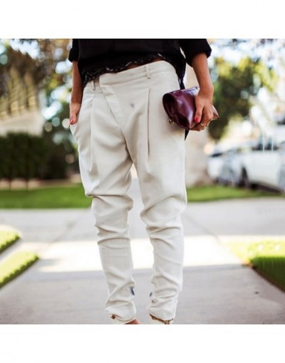 Women Pants Ladies Slim Fashion Korean Harem Trousers Holiday Fashion Business Plus Size Bottoms Casual Pants - White - 4W41...