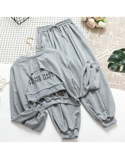 Loose tracksuit spring women 3 pieces set casual letter t-shirt+vest+high waist elastic pants sets female cool sportswear su...