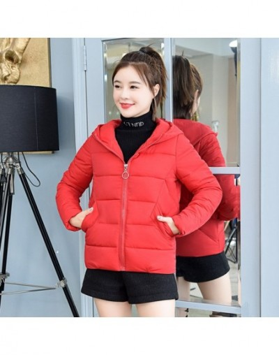 2019 New Autumn Winter Jacket Women Plus Size High Quality Womens Basic Jackets Hooded Short Parkas Womens Coat Winter Outwe...