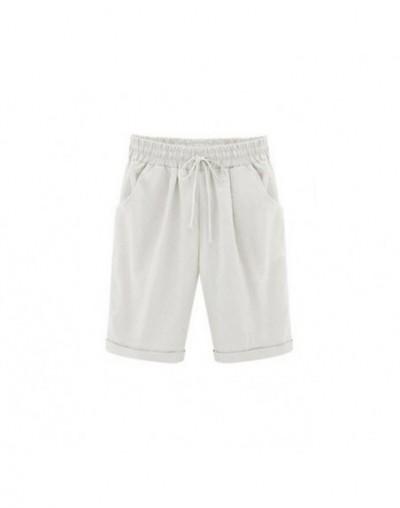 Summer Plus Size Shorts Women Candy Color Elastic Waist Summer Beach Vacation Comfortable Cotton Short Female Shorts M-6XL -...