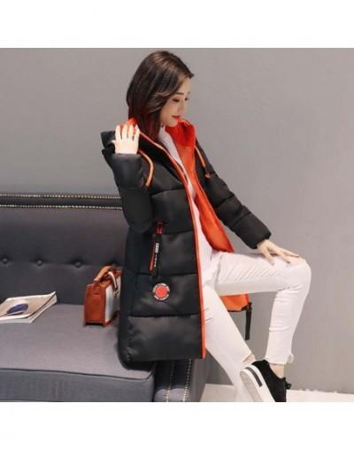 Winter jacket women Thick Women Parkas Hooded Female Outwear Down Cotton Padded Snow Wear outwear winter coats women - Black...