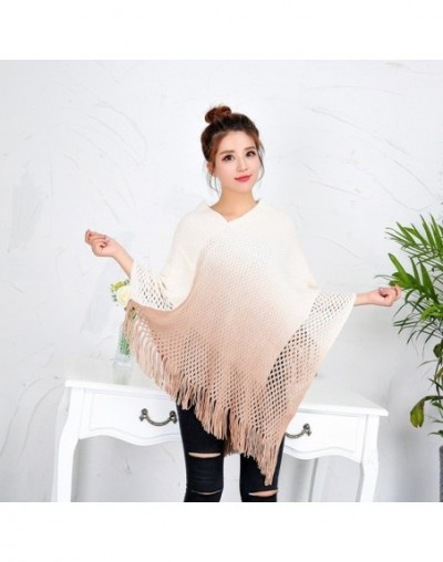 2017 Plus Size Autumn and Winter Long Knitted Solid Gradient Sleeveless Women Cardigan Sweater with Tassel - Brown - 4I39434...