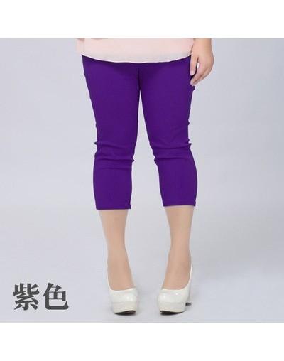Plus Size Female Elastic Pants 6XL 5XL 4XL Good Quality Extra Large Size Women Capris Pants Super Stretch Summer Pant YB02 -...