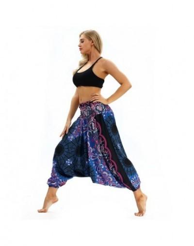 Casual Loose Harem Pants Women 2019 Elastic Waist 3D Floral Ethnic Pants Bloomers Trousers Summer Beach Bohemian Streetwear ...