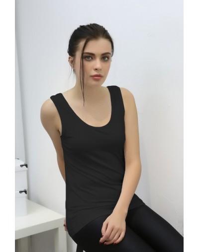 2019 summer new women's T-shirt tank tops bamboo fiber fertilizer large collar U-neck strap vest women Tshirts plus size L-6...