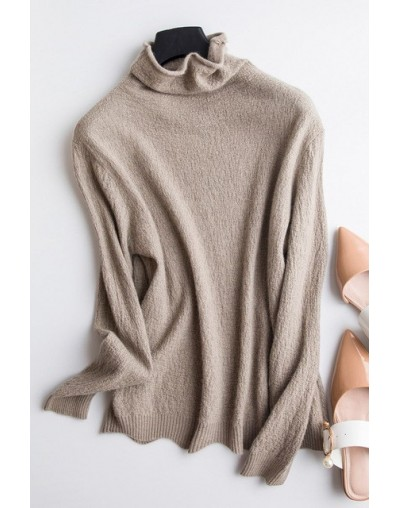 Women Turtleneck Winter Cashmere Sweater Women Long Sleeve Knitted Women Sweaters And Pullovers Female Jumper Tricot Tops - ...