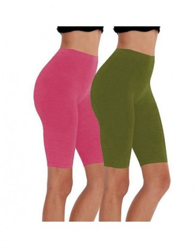 casual eco-friendly cotton spandex fitness running women shorts stretchy high waist cycling girl short M30292 - 2 pcs - 4S41...