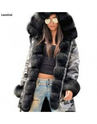 Woman High Quality Luxury Fur Collar Parkas Winter Warm Coat Fashion Lady Outwear High Street Fur Sleeve Warm Coat Jackets 5...
